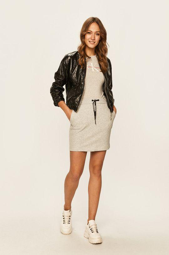 Calvin Klein Jeans - Sukně světle šedá