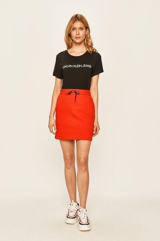 Calvin Klein Jeans - Sukně červená