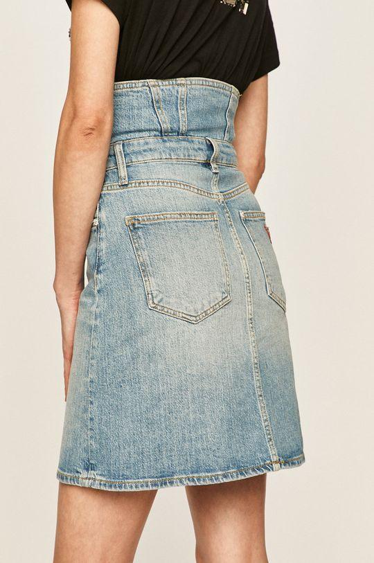 Guess Jeans - Fusta jeans  Captuseala: 20% Bumbac, 80% Poliester  Materialul de baza: 99% Bumbac, 1% Elastan