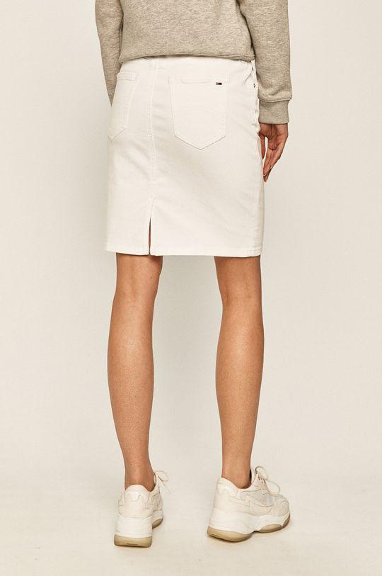 Tommy Jeans - Rifľová sukňa  90% Bavlna, 2% Elastan, 8% Elastomultiester