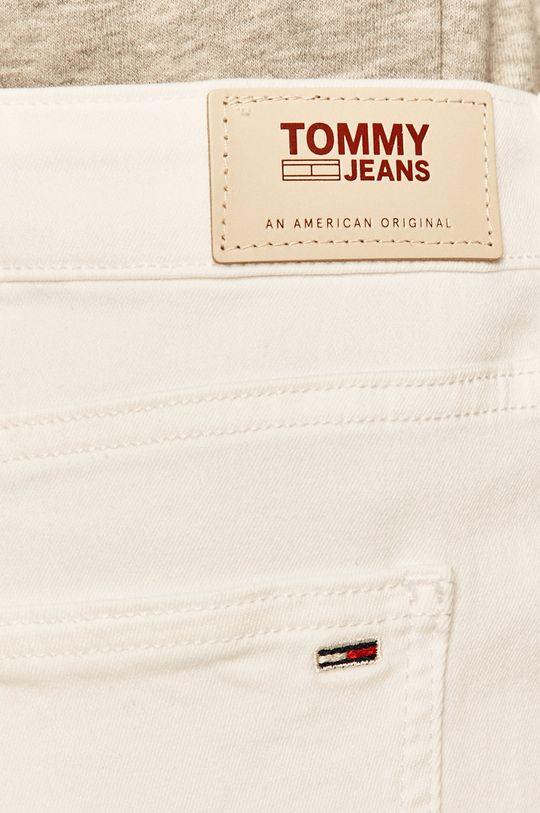 biela Tommy Jeans - Rifľová sukňa