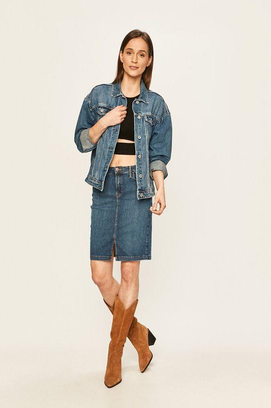 Lee - Rifľová sukňa tmavomodrá