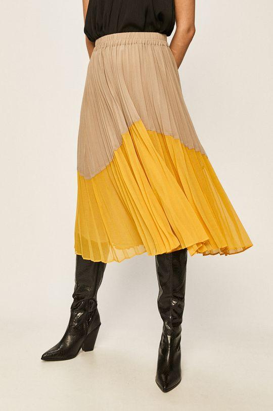 žltá Pepe Jeans - Sukňa Beli Dámsky