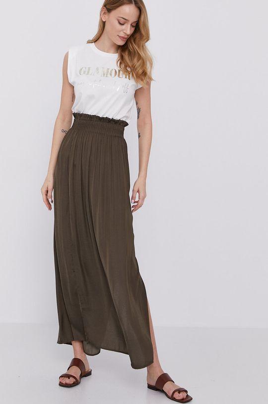 Morgan - Spódnica brązowa zieleń