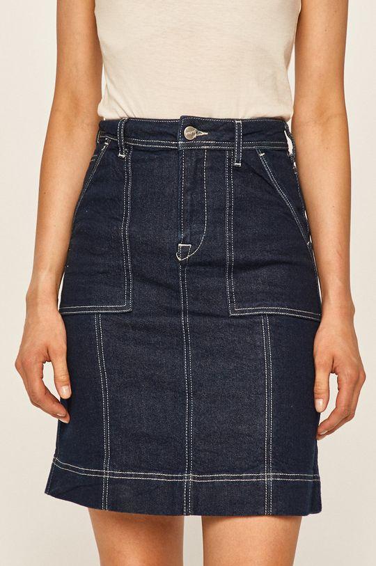 modrá Pepe Jeans - Rifľová sukňa Paige Work Dámsky