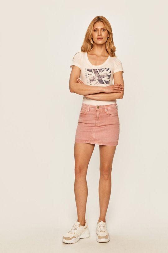 Pepe Jeans - Džínová sukně Dani starorůžová