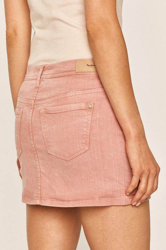 Pepe Jeans - Džínová sukně Dani 100% Bavlna