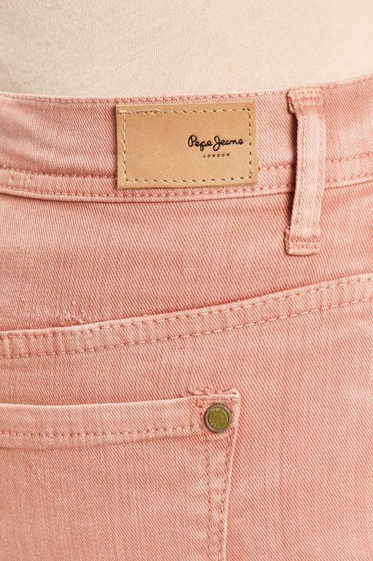 starorůžová Pepe Jeans - Džínová sukně Dani