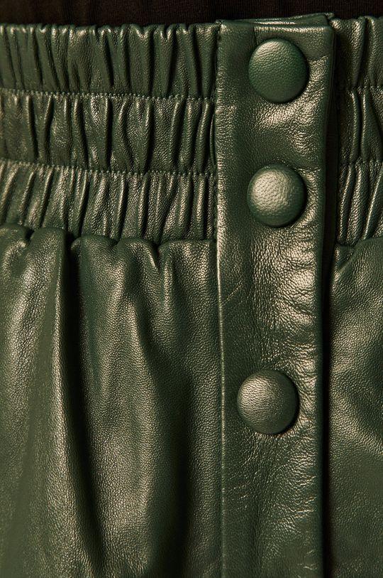 brązowa zieleń Pepe Jeans - Spódnica skórzana Marie