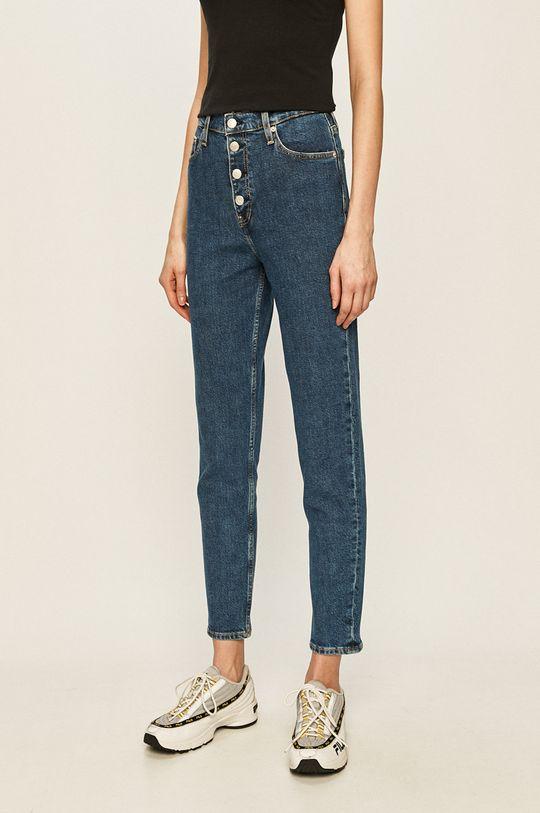 тъмносин Calvin Klein Jeans - Дънки Mom Jean Жіночий