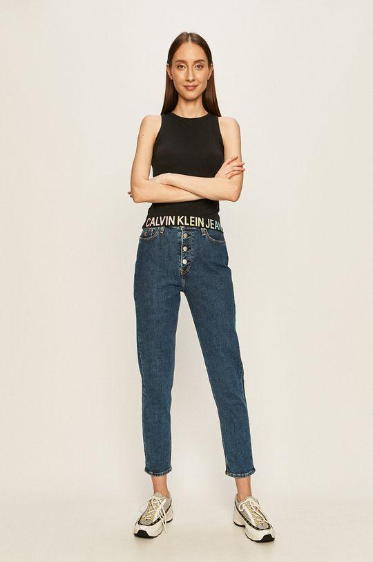 Calvin Klein Jeans - Jeansy Mom Jean granatowy