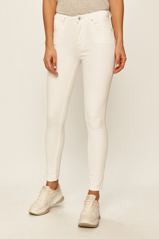 bílá Pepe Jeans - Džíny Regent Dámský