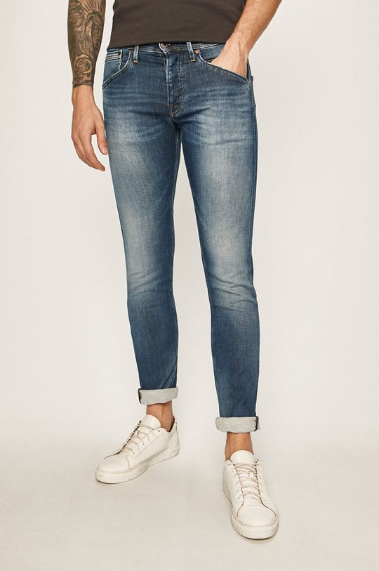 niebieski Pepe Jeans - Jeansy Track Męski