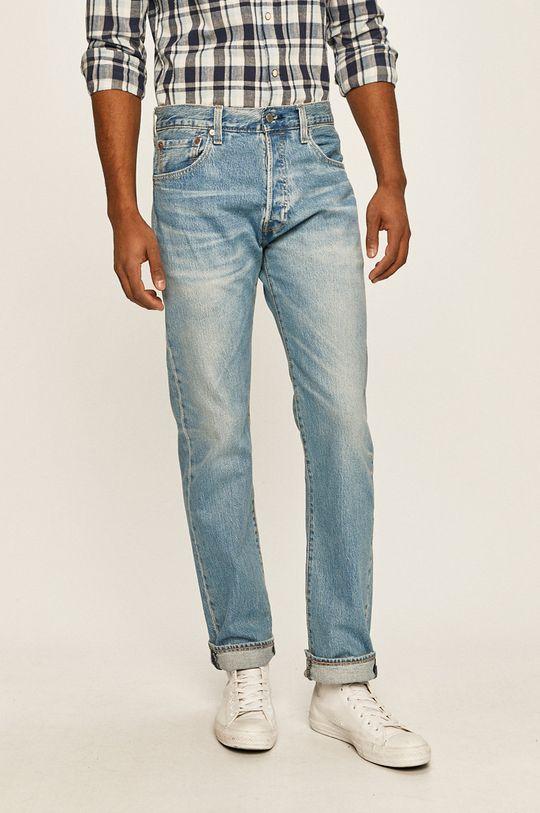 Levi's - Jeansi 501 albastru metalizat