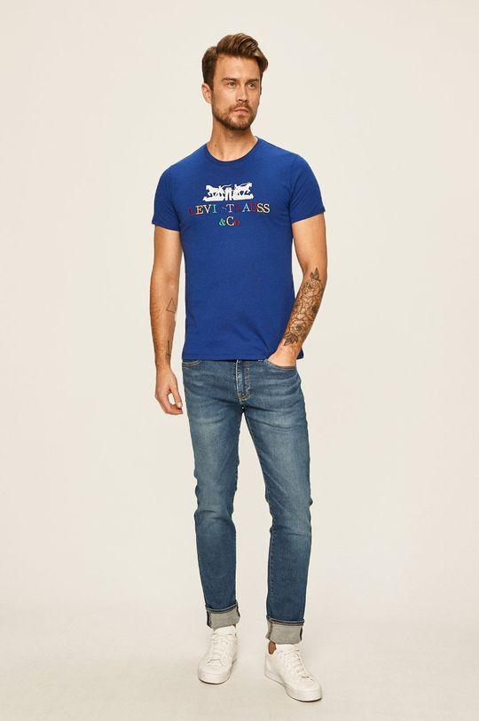 Levi's - Jeansy 511 stalowy niebieski