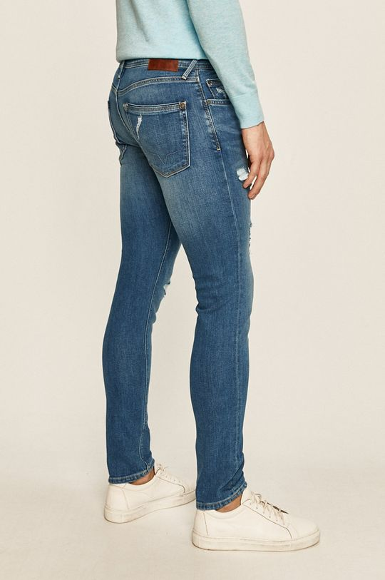 Pepe Jeans - Jeansi Stanley Materialul de baza: 91% Bumbac, 2% Elastan, 7% Poliester  Insertiile: 35% Bumbac, 65% Poliester