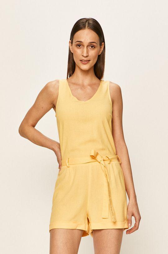 żółty Vero Moda - Kombinezon Damski