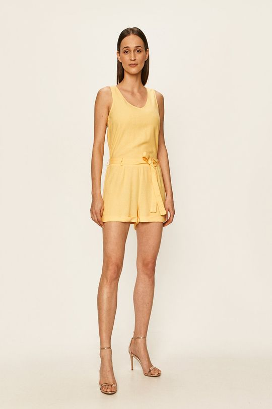 Vero Moda - Kombinezon żółty
