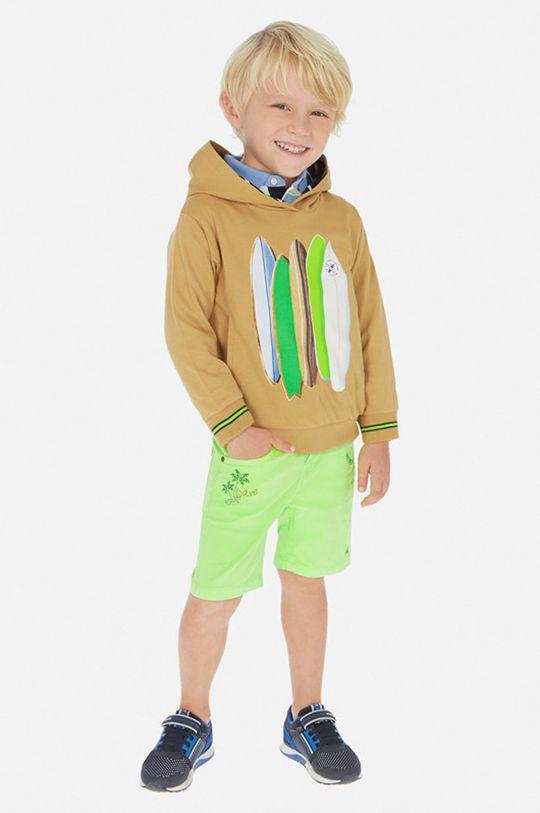 žlto-zelená Mayoral - Detské krátke nohavice 92-134 cm Chlapčenský