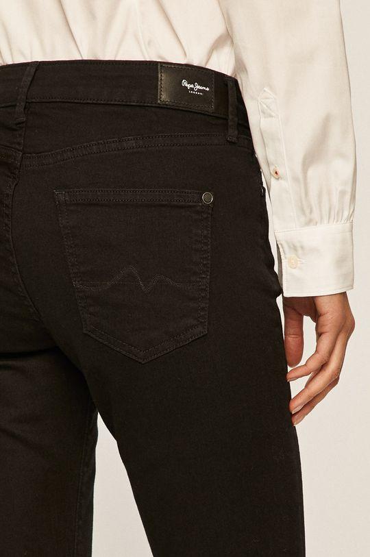 černá Pepe Jeans - Kalhoty Pixie