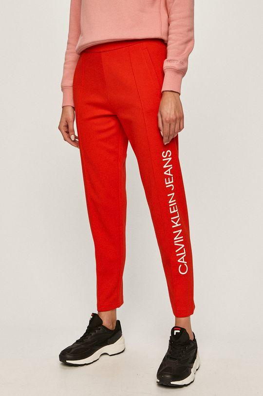 červená Calvin Klein Jeans - Nohavice Dámsky