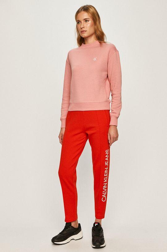 Calvin Klein Jeans - Nohavice červená