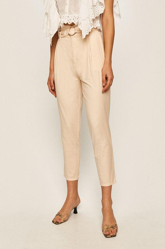 kremowy Guess Jeans - Spodnie Damski