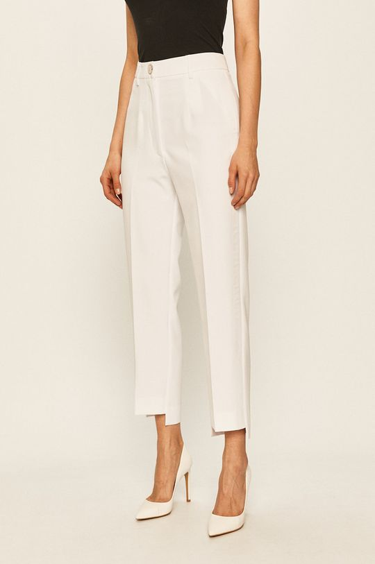 alb Guess Jeans - Pantaloni De femei