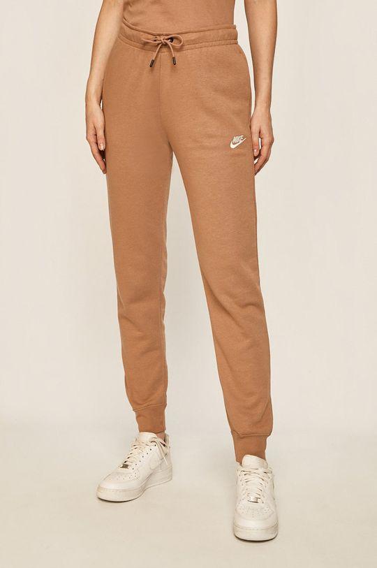 kávová Nike Sportswear - Kalhoty Dámský