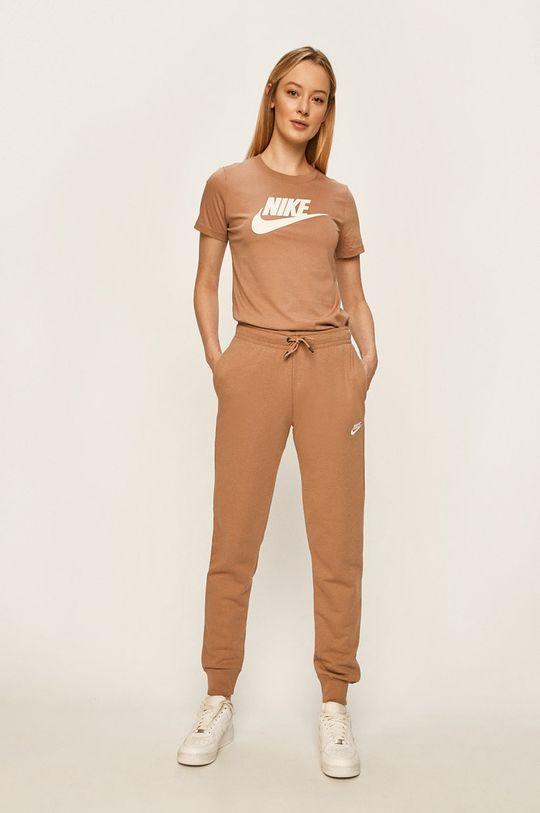 Nike Sportswear - Kalhoty kávová