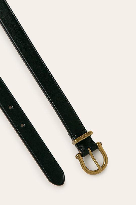 Polo Ralph Lauren - Pasek skórzany czarny