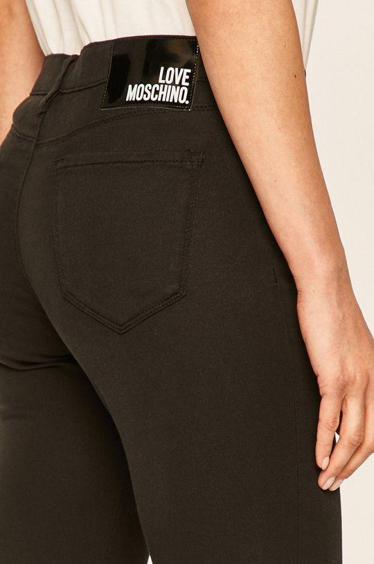 czarny Love Moschino - Spodnie