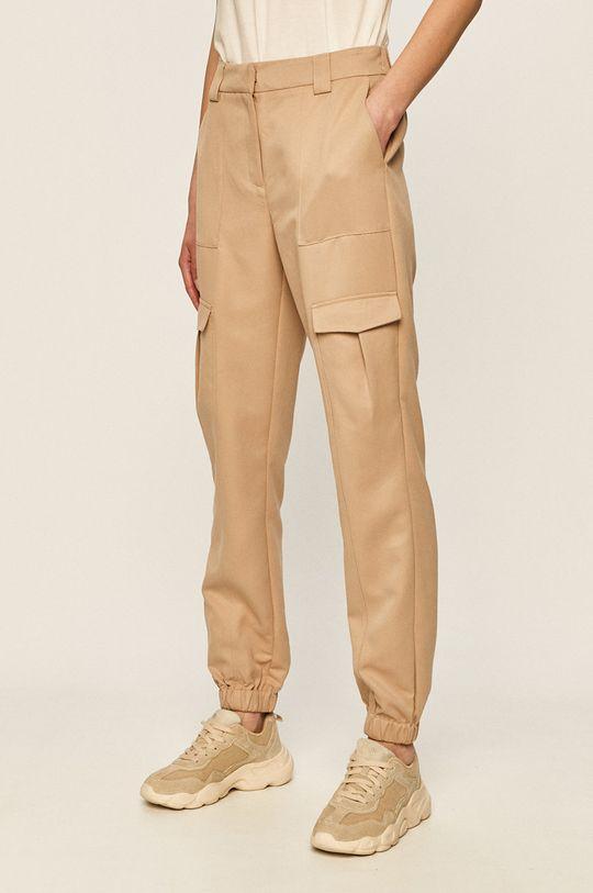 piaskowy Vero Moda - Spodnie Damski