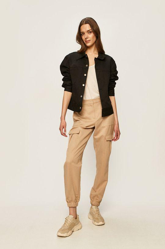 Vero Moda - Spodnie piaskowy