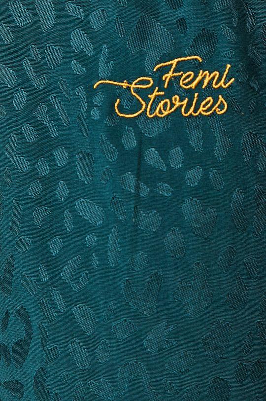 tmavě tyrkysová Femi Stories - Kalhoty ILIA