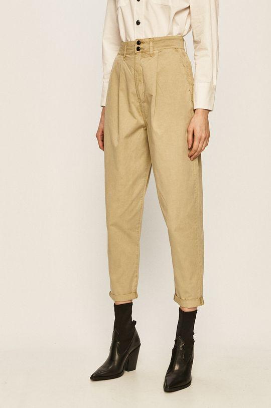 blady zielony Pepe Jeans - Spodnie Mamba Damski