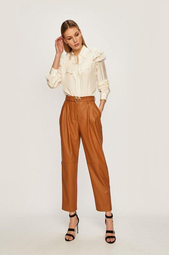 Pinko - Kalhoty hnědá