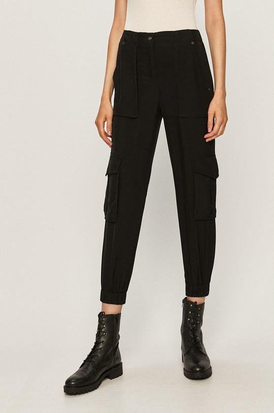 negru AllSaints - Pantaloni Frieda Trousers De femei
