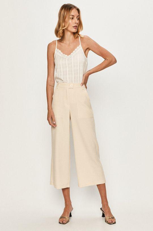Vero Moda - Nohavice krémová