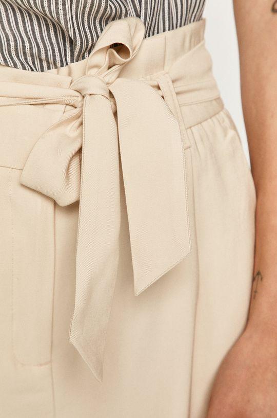 kremowy Vero Moda - Spodnie