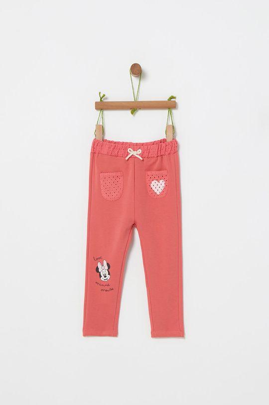 staroružová OVS - Detské nohavice x Disney 74-98 cm Dievčenský
