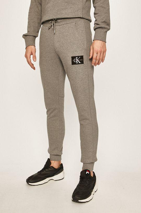 světle šedá Calvin Klein Jeans - Kalhoty Pánský
