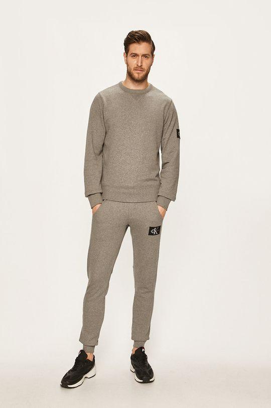 Calvin Klein Jeans - Kalhoty světle šedá
