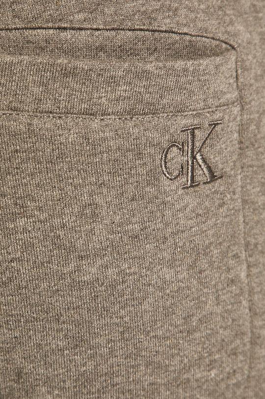 světle šedá Calvin Klein Jeans - Kalhoty