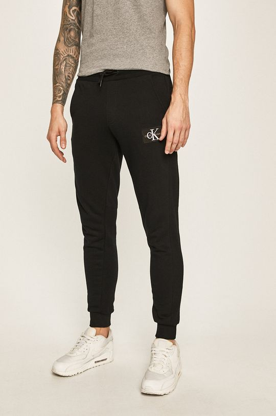 čierna Calvin Klein Jeans - Nohavice Pánsky