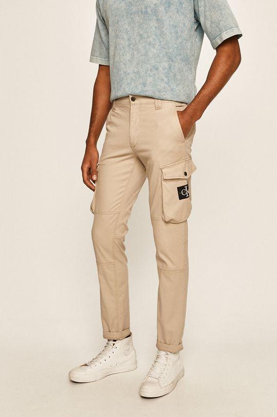 bej Calvin Klein Jeans - Pantaloni De bărbați