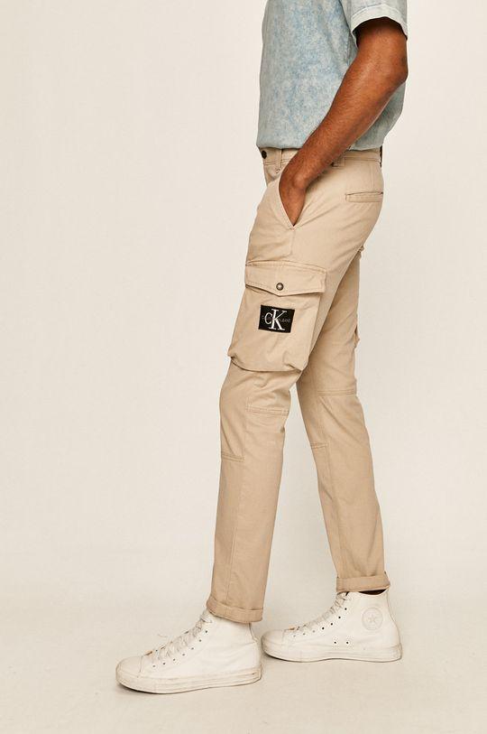 bej Calvin Klein Jeans - Pantaloni