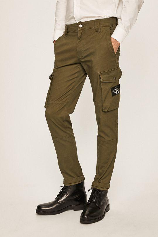 tlumená zelená Calvin Klein Jeans - Kalhoty Pánský
