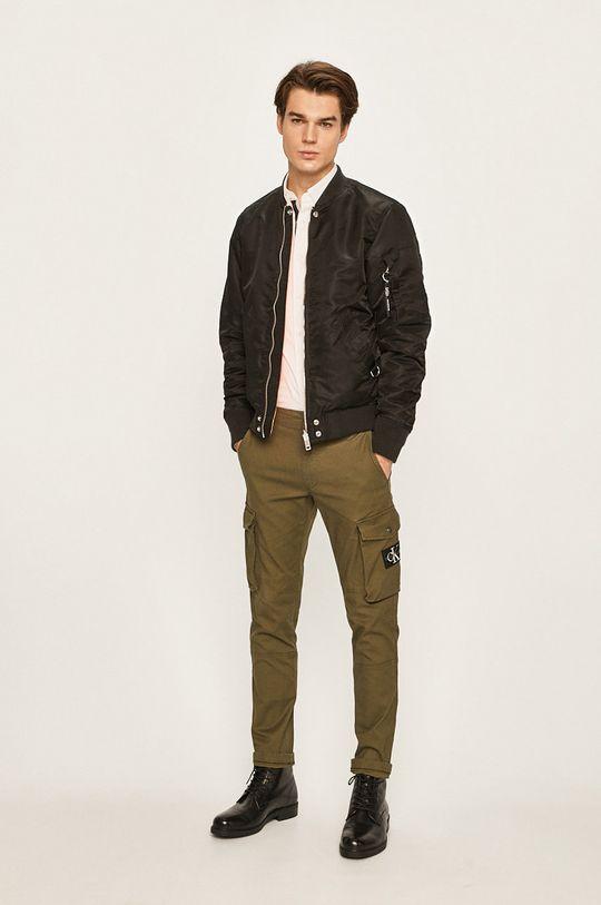 Calvin Klein Jeans - Kalhoty tlumená zelená