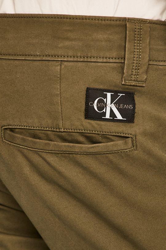 tlumená zelená Calvin Klein Jeans - Kalhoty